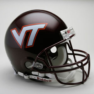 Virginia Tech Hokies Full Size Authentic Riddell Proline Helmet